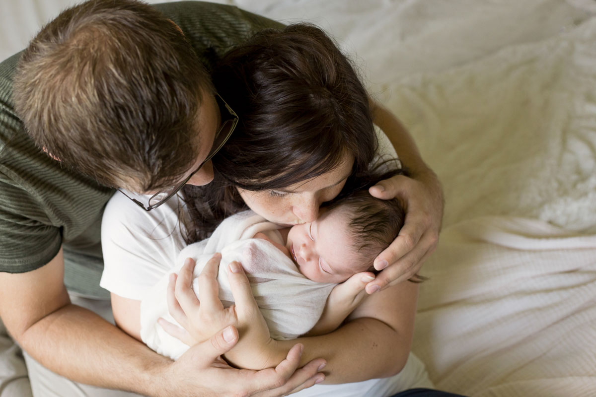Familienfoto mit Neugeborenem in Nürnberg